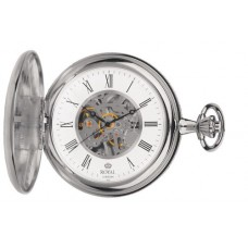 Royal London - Silver Plated Mechanical Pocket Watch